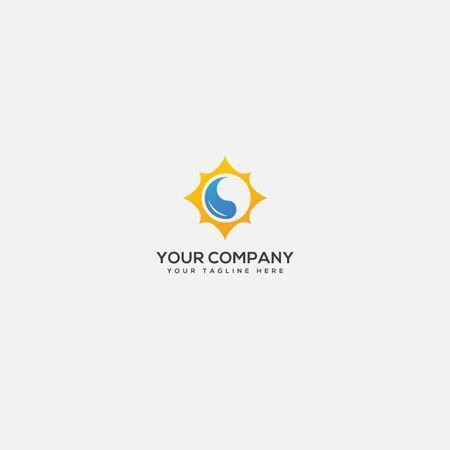 oil and sun logo, simple sun and water logo Stock fotó - 138147254