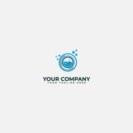science and experience washing logo design Banco de Imagens - 138147257
