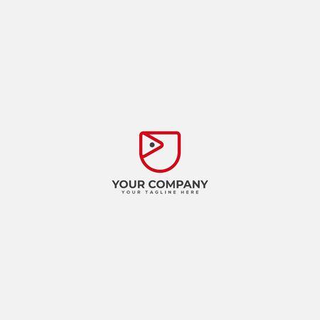pocket media logo, pocket logo, pocket and looting logo Stock Illustratie