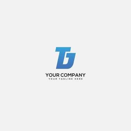 monogram logo, TD logo, letter TJ. Letter TD, simple TD logo