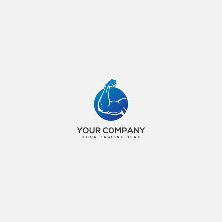 hand and strong logo, health and blue hand logo,