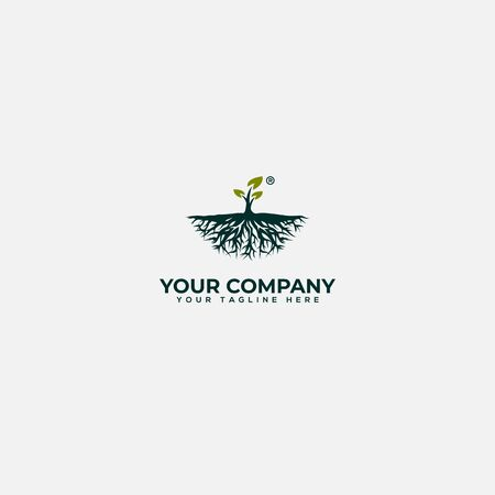 vibrant tree abstract logo design
