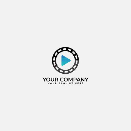 studio and playing media production logo