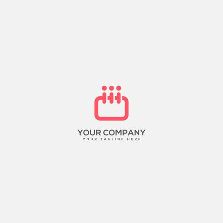 daily and event planer logo, calender logo, people and event logo Ilustracja
