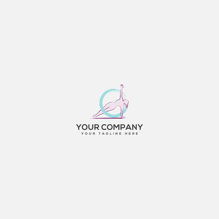 sport center and yoga logo, gymnastic logo, sport women center