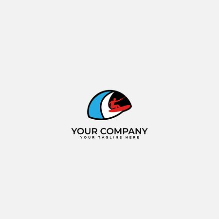 surf logo design, surfing, water surf Иллюстрация