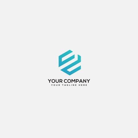 CD geometric logo design Logo