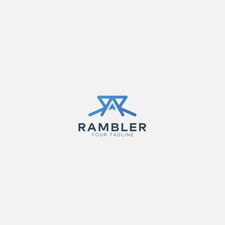 Ramble mountain with letter R logo