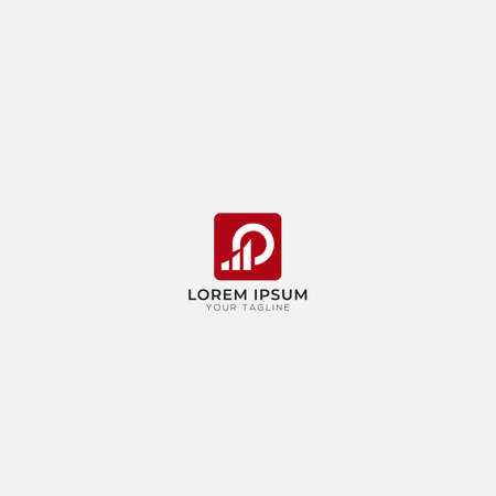 finance and business logo abstract increase letter P O