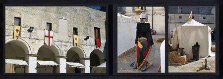 Photocomposition of photos taken during the Federiciana Festival in Altamura - Italy Stock Photo