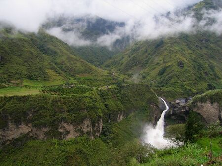 Waterfall near Banos, Ecuador Stock Photo - 3190018