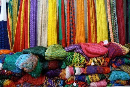 Mexikanische Hängematten zum Verkauf in der Nähe von Chichen Itza