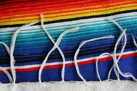 artisanry: Close up of Mexican Serape