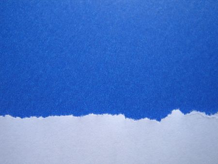 Torn Blue Paper Background Stock Photo