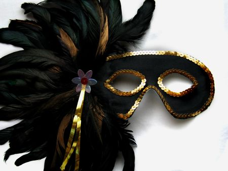 New Orleans Mardi Gras Mask Stock Photo