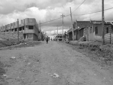 Poor neighborhood in San Martin, Ecuador near Quito Stock Photo