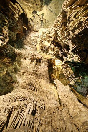 subterranean: St. Michaels Cave, Gibraltar Stock Photo