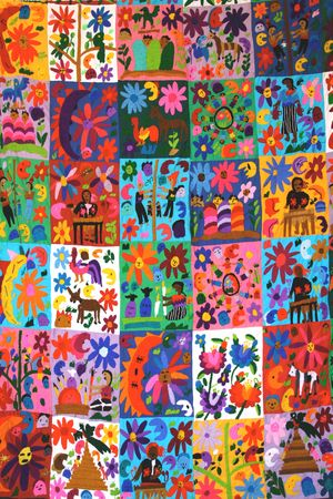 Colorful Mexican Quilt photo