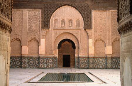 마라케시, 모로코에 알리 벤 요셉 고문 행위 스톡 콘텐츠