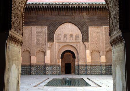 Ali Ben Youssef Madrassa in Marrakech, Marokko Stockfoto