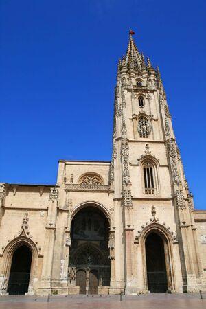 오비에도, 스페인 고딕 성당 스톡 콘텐츠