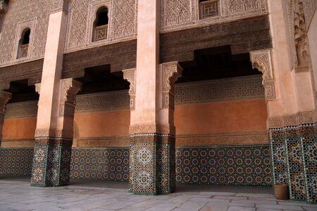마라케시, 모로코의 Madrassa 스톡 콘텐츠
