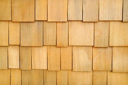 Wooden Shingle Wall Background Stock Photo