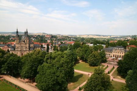 Fulda Cathedral and Skyline in Hessen, Germany