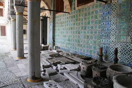 brothel: Courtyard in the Royal Harem of the Topkapi Palace in Istanbul, Turkey