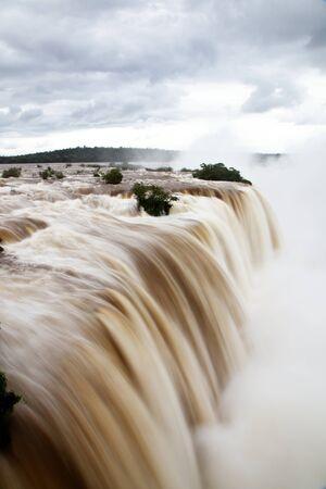 natural wonders: Iguazu Falls after a heavy winter rain, as seen from the Brazilian side
