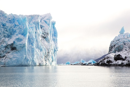 moreno glacier: Perito Moreno Glacier in Patagonia, Argentina during winter