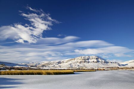 Laguna Nimez in El Calafate, Argentina in Winter Stock Photo - 15725727