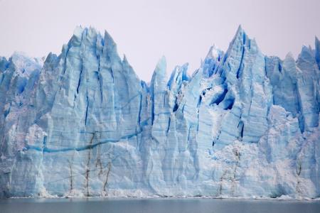 moreno glacier: Perito Moreno Glacier in Parque Nacional los Glaciares, Argentina Stock Photo