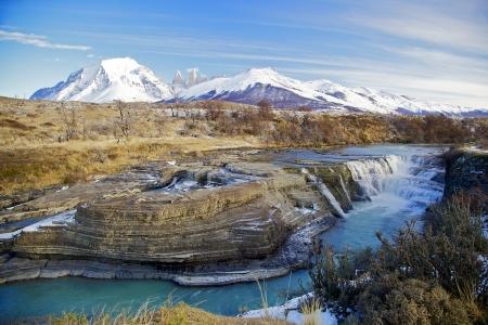 Parque Nacional Torres del Paine, Chile in Winter Stock Photo
