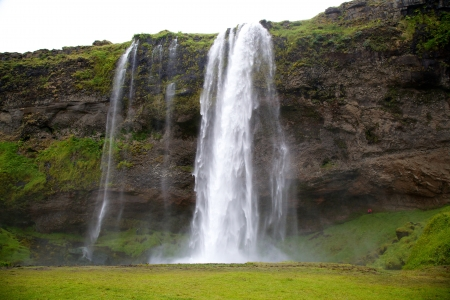 Seljalandsfoss Waterfall in Suthurland, Iceland in Summer photo