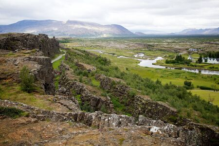 View Over Thingvellir National Park in Iceland
