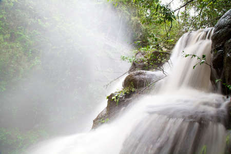 Waterfall in Iguazu National Park, Argentina with Water Blurred Stock Photo - 17433608