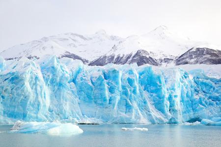 moreno glacier: Perito Moreno Glacier in Argentina in Winter