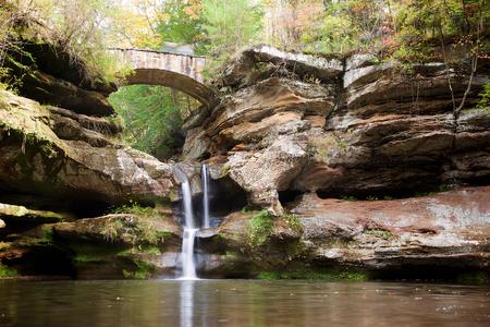 Upper Falls in Hocking Hills State Park, near Logan, Ohio Stock Photo