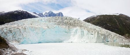 Pia Glacier in the Beagle Channel of Patagonia, Chile in Summer