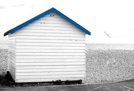 cabane plage: Cabane de plage sur une journ�e nuageuse.