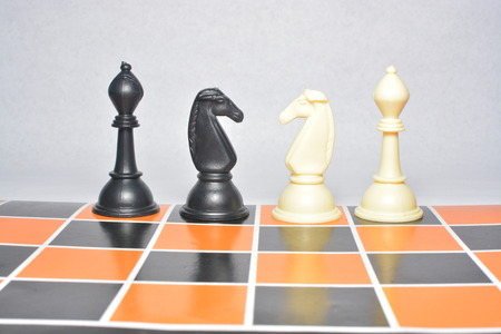 chess rook: chess piece on chess board isolated