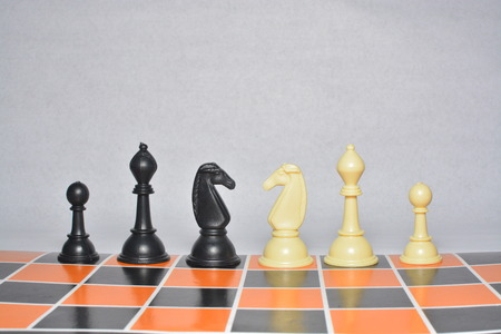 chess piece on chess board isolated