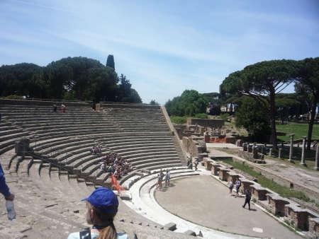 Old amphitheatre of Rome Italy 報道画像