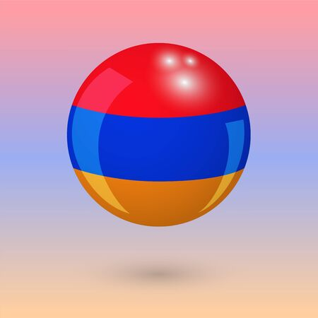 de focused: armenia. armenian style. ball. vector illustration