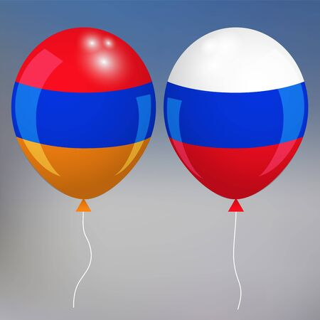 de focused: armenia an drussia. blurred background . armenian style. balloon. vector illustration