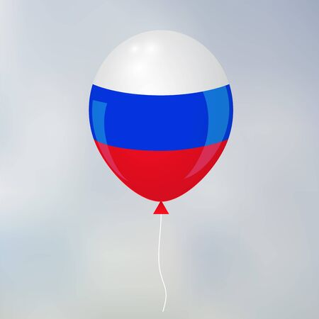 de focused: russia. blurred background .  balloon. vector illustration