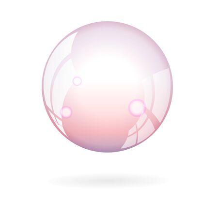 soap bubble: soap bubble. stock vector Illustration