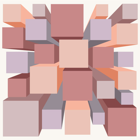 Abstract cube background. banner design. vector Vector