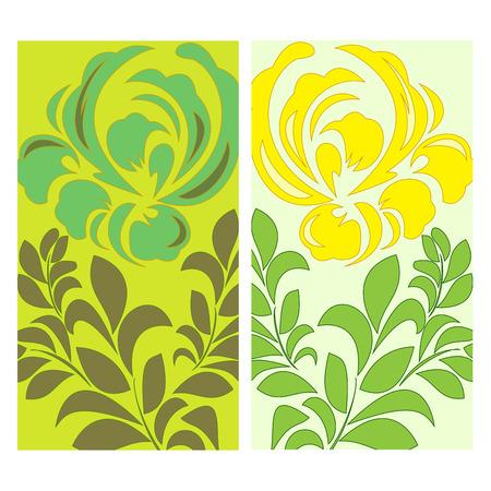 slavs: floral background. vector illustration